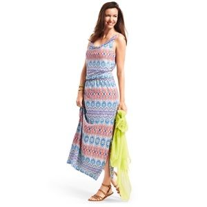 CAbi In The Sun Aztec Maxi Dress Style 317 Sz S